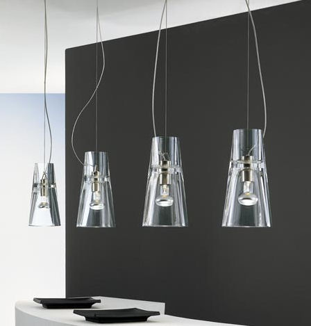 leucos kon suspension pendants Contemporary Clear Glass Pendants from Leucos   the Kon Suspension Lights