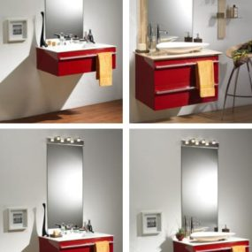 Contemporary bathroom cabinet from Lido – the Majik modular bathroom furniture