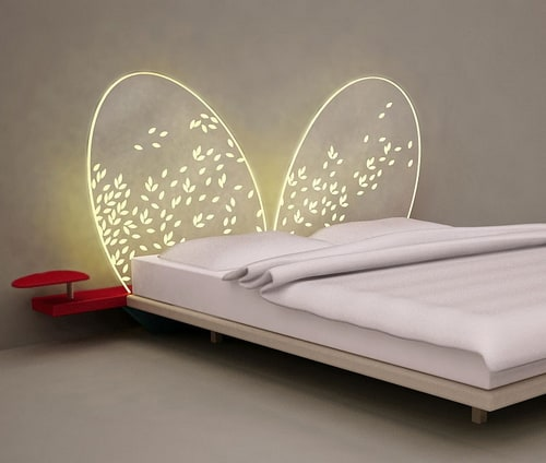 lighted headboard transparent mariposa adele 2 Lighted Headboard   transparent Mariposa (Butterfly) by Adele