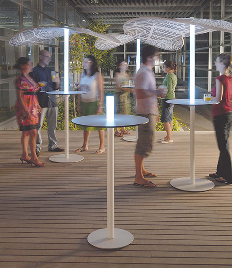 lighted patio umbrella puntmobles 3 Lighted Patio Umbrella   LED Umbrellas by Punt Mobles