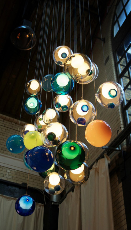 lighting bocci 2 Glass Ball Chandeliers   Wonderfully Magical Lighting by Bocci