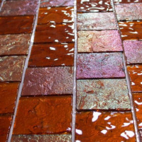 Glass tile from Lightstreams – fused glass tiles