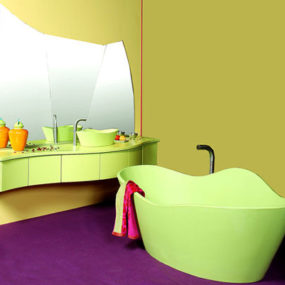 Ginkgo basin and bathtub by Ligne Evolution