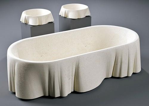 Limestone bathtub by lapicida palladio for Limestone tub