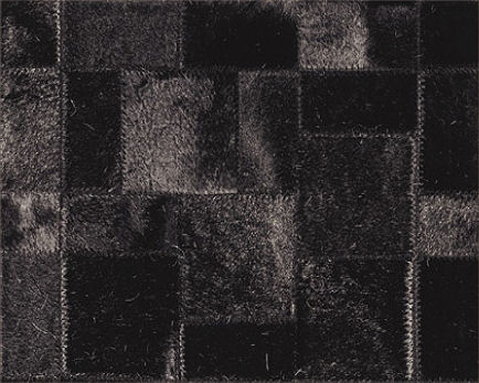 limited edition natural leather hairy rug black Natural Hairy Leather rug by Limited Edition