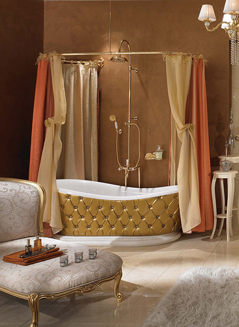lineatre bathroom gold 2 Classic Bathroom Suites and Fixtures from Lineatre