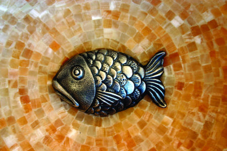 linkasink drain cover fish