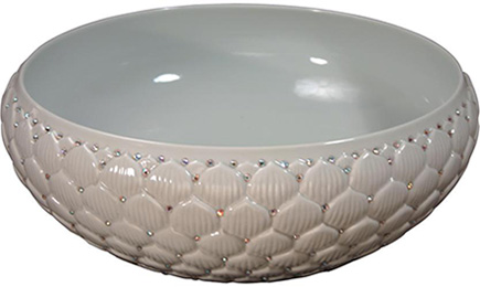 linkasink porcelain swarovski crystal lotus sink