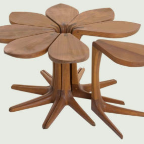 Loves Me Loves Me Not Side Table by Vogel