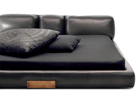 Good Low Profile Leather Bed Ceccotti Collezioni Dc 1 Low Profile Leather Bed  From Ceccotti Collezioni DC