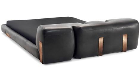 Low Profile Leather Bed Ceccotti Collezioni Dc 2