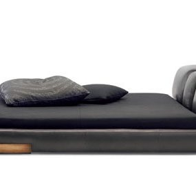 Low Profile Leather Bed from Ceccotti Collezioni – DC Bed