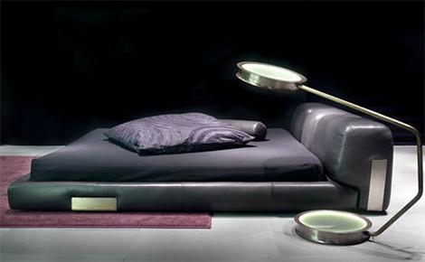 low profile leather bed ceccotti collezioni dc 3