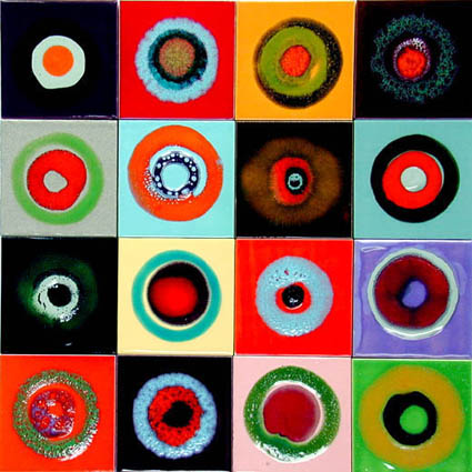 lubna chowdhary target ceramic tiles multicolored Target Ceramic Tiles from Lubna Chowdhary   Whimsical Fun for Your Walls
