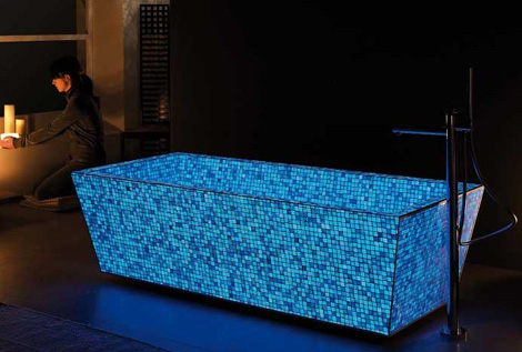 lucedentro illuminating mosaic 2 Illuminating Tile Mosaic   glowing in the dark tiles by Lucedentro