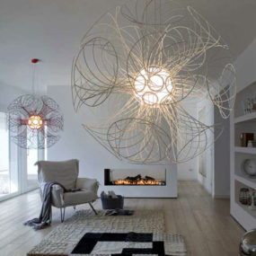 Wire Pendant Lamp Vita by Lucente