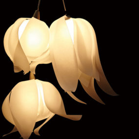 Lustrous Lighting – Blossom Pendants by 3Form