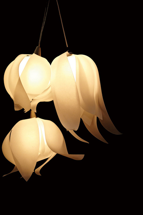 lustrous lighting blossom pendants 3form 1 Lustrous Lighting   Blossom Pendants by 3Form
