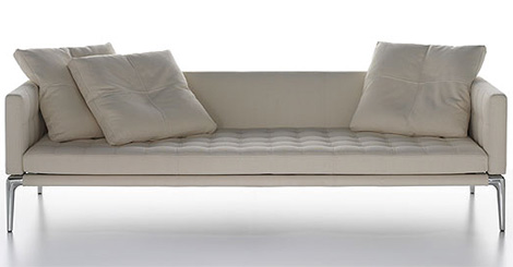 luxury leather sofas cassina volage pillows Luxury Leather Sofas   designer leather sofa by Philippe Starck