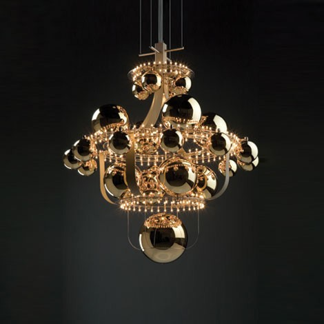 luxury suspension lighting quasar royal bb gold