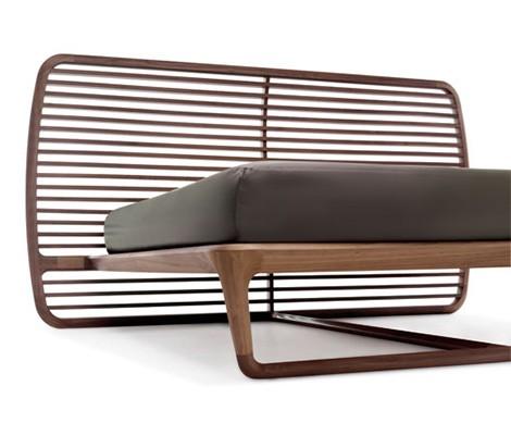 luxury walnut bed headboard ceccotti collezioni