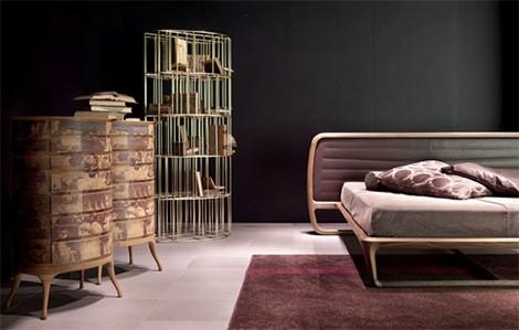 luxury walnut bed idea ceccotti collezioni 1