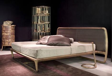 luxury walnut bed idea ceccotti collezioni