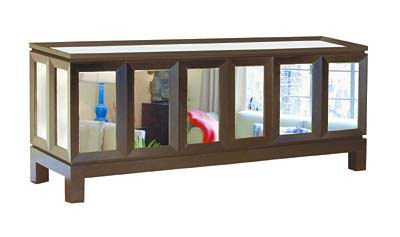 lyle umbach mirrored long cabinet Mirrored Armoire by Lyle and Umbach