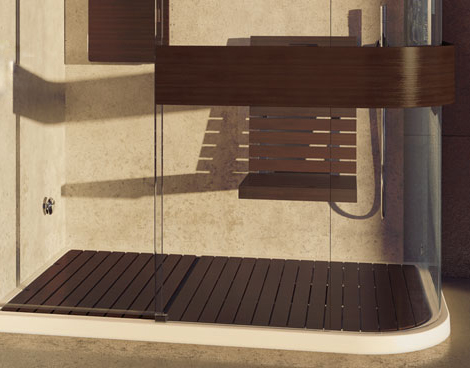 maax wood shower floor Wood Shower Seat and Wood Shower Floor add luxury to Maax Expose shower