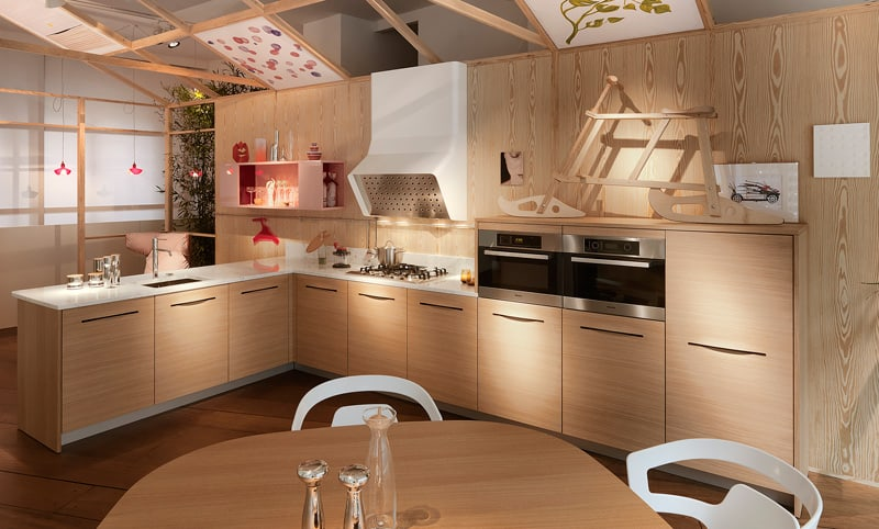 View In Gallery Made In Wood Kitchen Pampa By Schiffini Handles