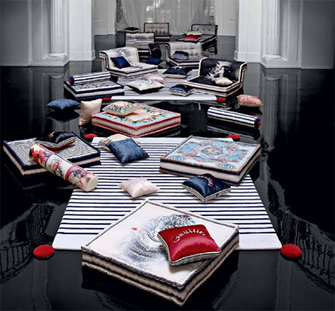mah jong modular sofa jean paul gaultier Couture Furniture from Roche Bobois