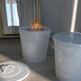 Mobile Fireplace by Maison Fire inspired by trash can