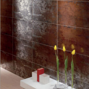 Glazed Porcelain Tiles Titanio by Mallol – the metallic reflection tile