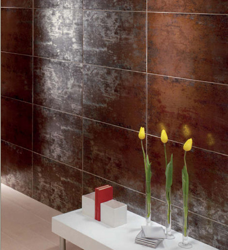 glazed porcelain tiles titanio by mallol u2013 the metallic reflection tile