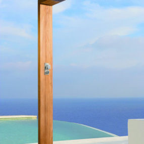 Contemporary Outdoor Shower by Manutti – the Siena Cascade Shower