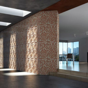 Marble Tile with Designs – Stylized Rose by Decormarmi