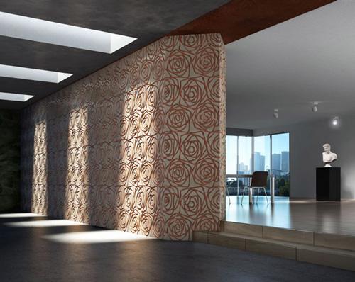 marble tile designs stylized rose decormarmi 1 Marble Tile with Designs   Stylized Rose by Decormarmi