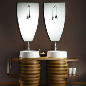 Barrel Bathroom Vanities from Mariner – single and double