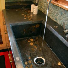 Concrete Kitchen Sink from Mark Concrete