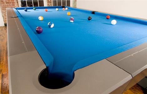 Mars metal billiards table details