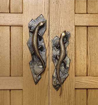 Martin Pierce Lizard Door Pulls Decorative Door Hardware By Martin Pierce  The Luxury Exotic Lizard Door