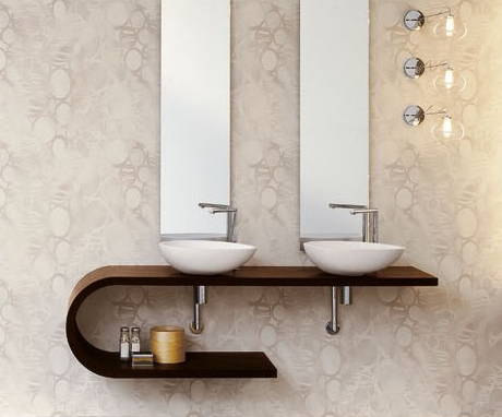 Mastella Jey double vanity in dark wood