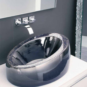 Porcelain Sink Collection with 'Magma' effect from Mastertecno