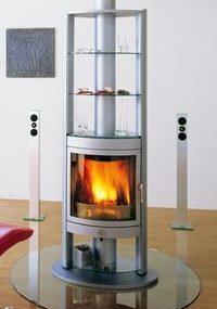 Max Blank Berlin fireplace (rotating) – wood-burning high-tech temptation