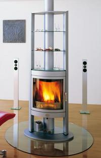 Max Blank Berlin fireplace (rotating) – wood-burning high-tech temptation