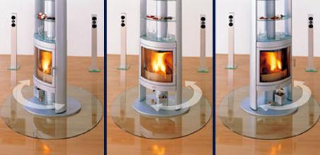max blank berlin rotating fireplace