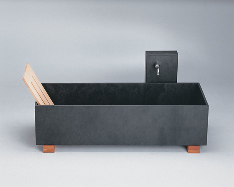 maxim bathtub die wanne tub 1 Stone Bathtub from Maxim   slate tub