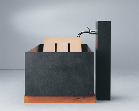 maxim bathtub die wanne tub 2 Stone Bathtub from Maxim   slate tub