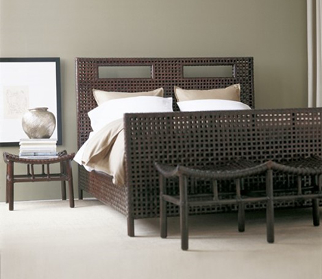 new trends in furniture. Mcguire Designs Woven Rawhide Bedroom Bed By McGuire New Furniture Trends In .