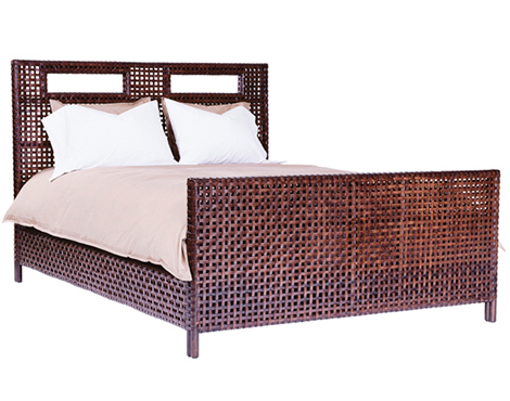 mcguire designs woven rawhide bedroom Woven Rawhide Bedroom by McGuire Designs   new woven furniture trends